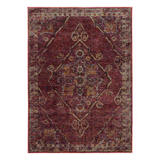 "Oriental Weavers Sphinx Andorra 7135E Rug, Red/Gold, 6'7""x9'6"""