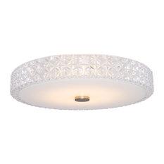 """Kira Home Maxine 15"""" Modern Semi Flush Ceiling Light, 18W Integrated LED, 300K"""