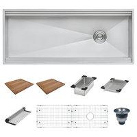 45 Workstation 2-Tiered Ledge Kitchen Sink 16 Gauge Undermount, RVH8333