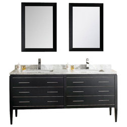 Simple Modern Bathroom Vanities And Sink Consoles Adornus Camile Black Vanity