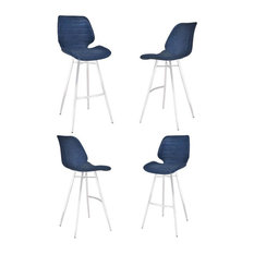 Valor 30-inch Bar Height Barstool In Brushed Stainless Steel (Set Of 4)