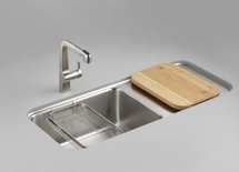 Looking for sink with drain board built in, other suggestions?