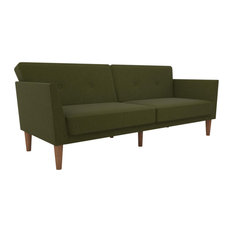 Novogratz Regal Mid-Century Sofa Bed/Futon, Green