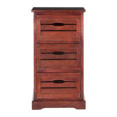 Safavieh Samara 3-Drawer Cabinet Cherry