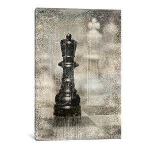 iCanvasART A Game of Chess Print 26 x 18