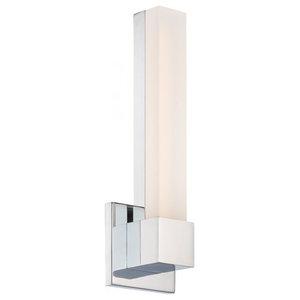 "Esprit 15"" LED Wall Sconce 3000K, Chrome"