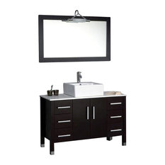 Cambridge 48-inch Bathroom Vanity Set, a Brushed Nickel Faucet