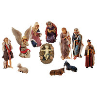 """36"""" Large, 12-Piece Outdoor Nativity Christmas Yard Art Stable And Statue Set"""