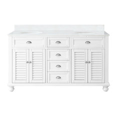 "60"" Cottage Look Double Sink Glennville Bathroom Sink Vanity"