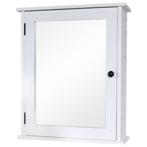 White Mirrored Bathroom Cabinet
