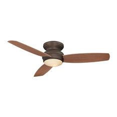 "Minka-Aire Tradtional Concept 44"" LED Flush Mount Ceiling Fan F594L-ORB, Bronze"
