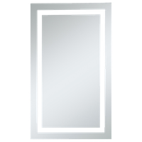 """LED Dimmable Electric Rectangle Mirror, 24""""x40"""""""