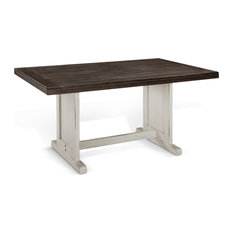 Sunny Designs Carriage House Table Only With Off White And Dark Brown 0113EC-T