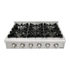 "Thor - Thor 36"" Professional Stainless Steel Gas Range Top - Cooktops"