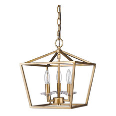 Acclaim Lighting Kennedy Indoor 3 Light Pendant With Crystal Bobeches Antique Gold