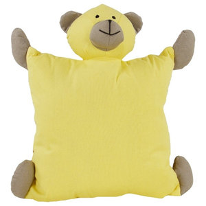 Small Yellow Teddy Bear Scatter Cushion