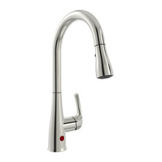 Keeney - Sensor Kitchen Sink Faucet With Pull Down Spout, 1-Handle, Brushed Nickel - Kitchen Faucets