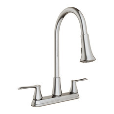 Keeney - Dual Handle Kitchen Faucet With Swivel Spout and Integrated Hand Spray - Kitchen Faucets