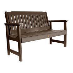 Lehigh Garden Bench, Weathered Acorn, 4'