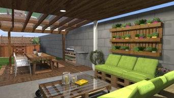 Landscaping 3D rendering