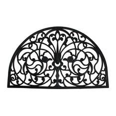 "French Arch Half Round Rubber Doormat 24""x36"""