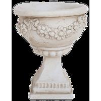 GDF Studio Nina Botanical Lightweight Concrete Chalice Decorative Urn Planter