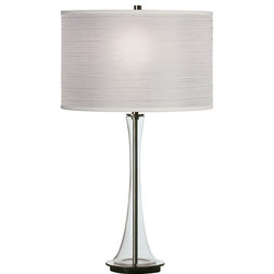 Spectacular Contemporary Table Lamps Robert Abbey Kate Table Lamp Clear Glass White