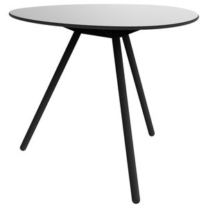 Dine A-Lowha Dining Table, Grey, Black Frame