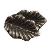Fancy Double Oak Leaf Knob, Antique Bronze