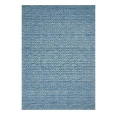 "Perris Wool 8'x10'6"" Rectangle Area Rug, Denim"