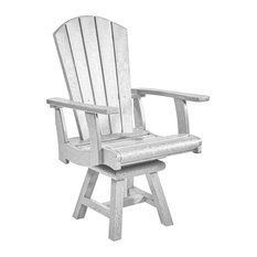 Generation Addy Swivel Dining Arm Chair, White