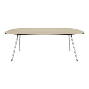 Medium A-Lowha Long Board Table, Sand, Stainless Steel Frame