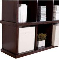 Modern Brown Espresso Bookcase