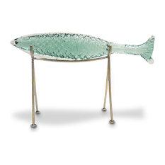 Palecek Glass Sakana Fish on Stand, Large