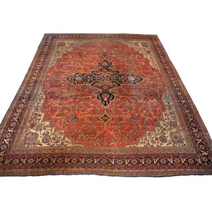 8x10 Antique Sarouk Rug Traditional Area Rugs By