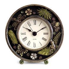 imax worldwide imports jeweled desk clock desk and mantel clocks