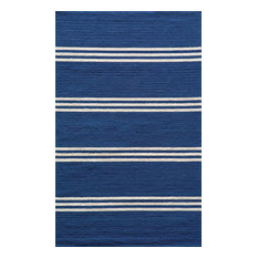 Veranda Indoor/Outdoor, Hand-Hooked, UV Protected Rug, Maritime Blue, 2'x3'