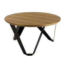 Odonata Round Wooden Coffee Table, Large