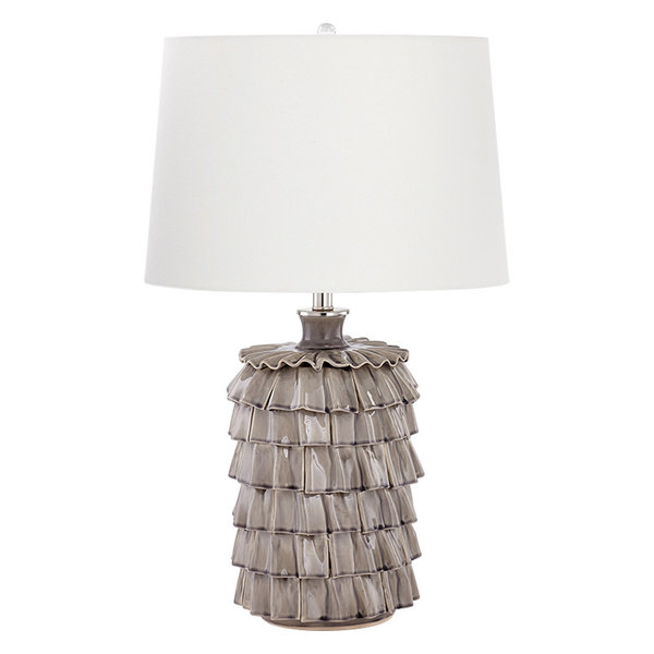 Antoinette 1-Light Table Lamp in Nickel with CFL