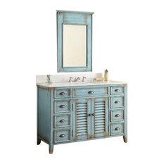 "46"" Abbeville Bathroom Sink Vanity and Mirror Set"