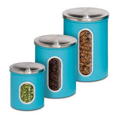 Honey Can Do Metal Kitchen Storage Canisters Set Of 3 And