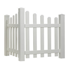 Scalloped Spaced Picket Vinyl Accent Fence