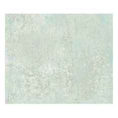Abstract Crackle Plaster Wallpaper, Faded Sage, Set of 5 Bolts