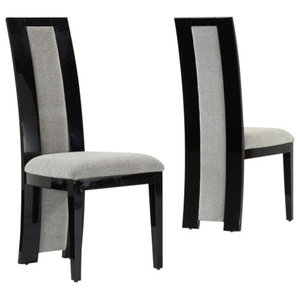 Rivilino Dining Chairs, Black, Set of 2