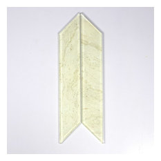 Crema Marfil 4 in. x 12 in. Glass Parallelogram Tile, Box of 54 Pieces