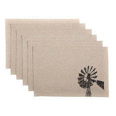 "Sawyer Mill Windmill Placemats, Set of 6, 12""x18"""