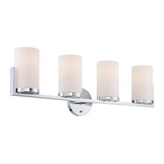 4-Lite Vanity Chrome/Frost Glass Shade E27 Type A 60Wx4