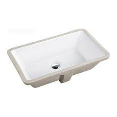Rectrangle Undermount Large Ceramic Lavatory Vanity Bathroom Sink Pure White, 21
