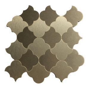 Gris Garden Lantern 12 Quot X13 Interlocking Marble Mosaic
