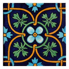 """4-Piece Soyopa Talavera Mexican Tile, 6x6"""""""